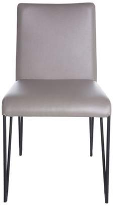 Euro Style Amir Side Chair, Taupe/Black