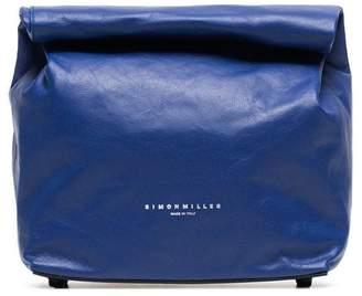 Simon Miller blue lunchbag 20 leather clutch bag
