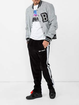 Balmain Glitter logo bomber jacket