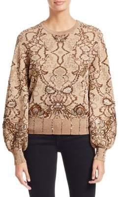 Jonathan Simkhai Embellished Jacquard Sweater