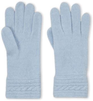 Portolano Cable Knit Cashmere Gloves