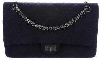 Chanel Jersey Reissue 226 Navy Double Flap Bag