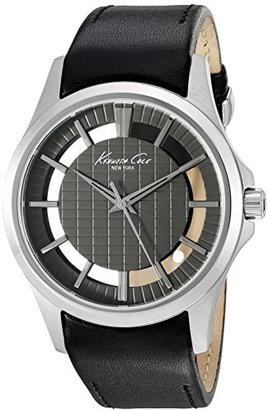 Kenneth Cole New York Men 's ' TRANSPARENCY ' Quartzステンレススチールand BlackレザーDress Watch ( Model : 10022286 )