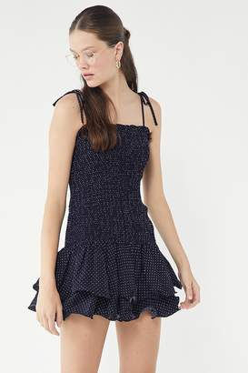 Urban Outfitters Smocked Ruffle Mini Dress