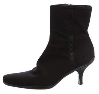 Prada Sport Pointed-Toe Ankle Boots