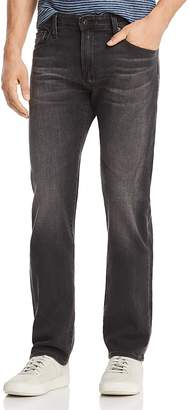 AG Jeans Matchbox Slim Fit Jeans in Smudged Black