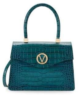 Mario Valentino Melanie Embossed Leather Top Handle Bag