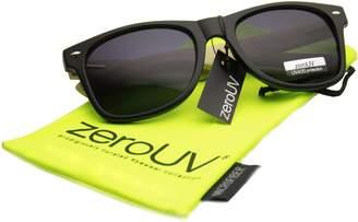 Zerouv Eco-Friendly Genuine Bamboo Temple Wayfarer Sunglasses