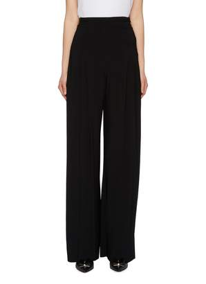 Norma Kamali High waist pleated flared pants