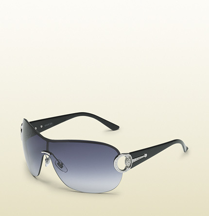 Gucci Medium Wrap Sunglasses With Horsebit And Bamboo Detail On Temple.