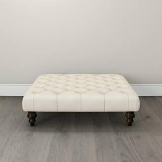 The White Company Hampstead Sqaure Cotton Footstool