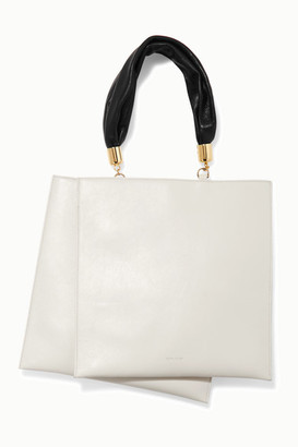 The Sant - Obi Two-tone Leather Tote - White