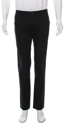Dolce & Gabbana Pinstripe Flat Front Pants