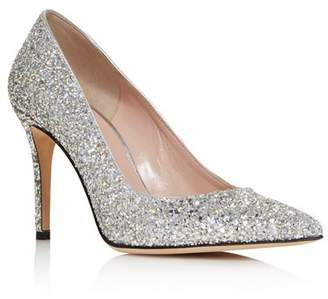 Kate Spade Women's Vivian Pointed Toe Glitter Leather High-Heel Pumps