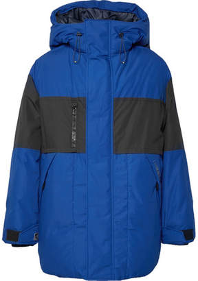 Lanvin Oversized Two-Tone Cotton-Blend Down Hooded Jacket
