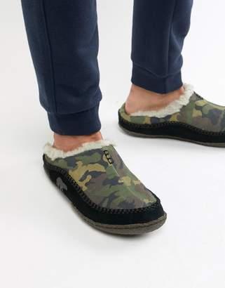 Sorel Falcon Ridge slippers in camo