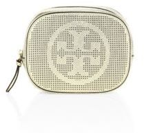 Tory Burch Tory Burch Perforated Metallic Leather Cosmetic Case