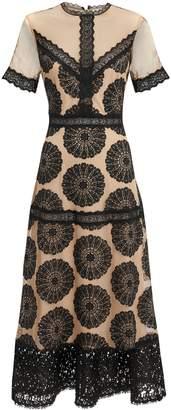 Nightcap Clothing Pinwheel Lace Midi Dress