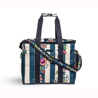 Vera Bradley 24 Can Midnight Floral Stripe Insulated Bag Cooler