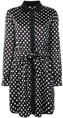 Moschino polka dot midi shirt dress