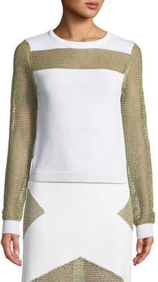 Tabula Rasa Sankore Metallic Open-Knit Sweater