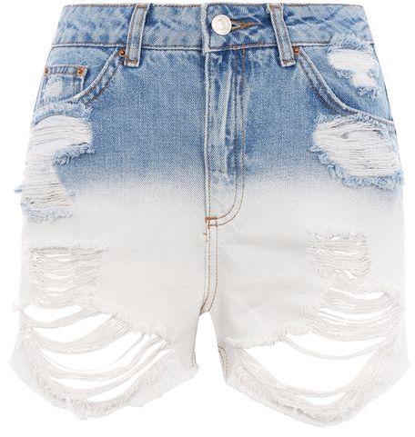 TopshopTopshop Moto dip dye mom shorts