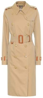 Burberry (バーバリー) - Burberry Leather-trimmed cotton trench coat