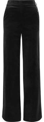 Frame Cotton-Blend Velvet Wide-Leg Pants