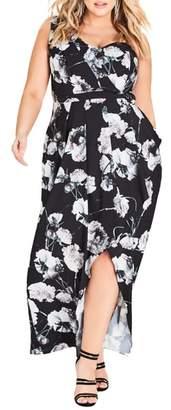 City Chic Spanish Rose Maxi Dress