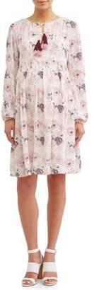 Liz Lange Maternity Tiered Boho Dress W/Tassels