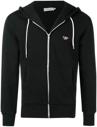 MAISON KITSUNÉ Fox patch zip hooded jacket