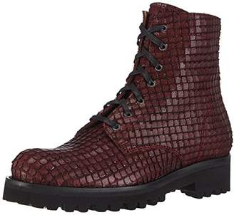 Objects in Mirror Women's C115 Cold Lined Combat Boots Short Length Red Size: