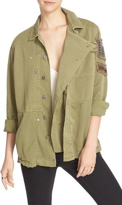 Women's Free People Embellished Military Shirt Jacket $168 thestylecure.com