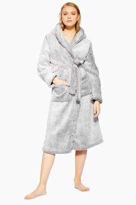 Topshop Womens Grey Super Soft Robe