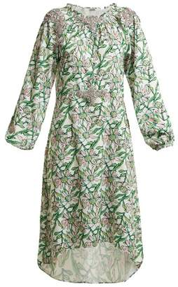 Dodo Bar Or - Marisa Floral Print Stretch Crepe Dress - Womens - White Multi