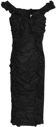 Alice McCall Move With Me Ruffle-trimmed Ruched Taffeta Dress