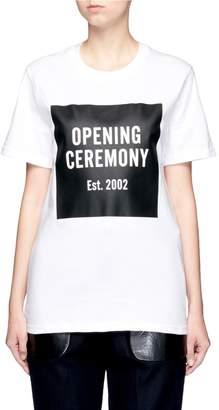Opening Ceremony OC' mirrored logo T-shirt