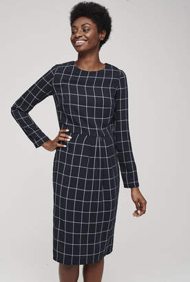 Long Tall Sally Pleated Detail Check Dress