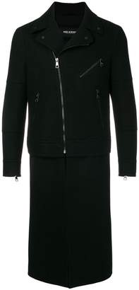 Neil Barrett zipped fitted biker coat