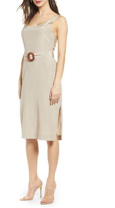 J.o.a. Back Tie Midi Dress