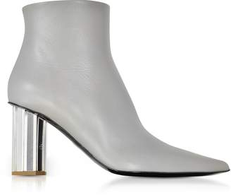 Proenza Schouler Taupe Gray Leather Mirror Heel Boots
