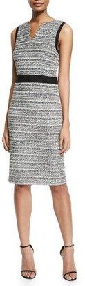 St. John Collection Laponche Knit Sheath Dress $1,595 thestylecure.com