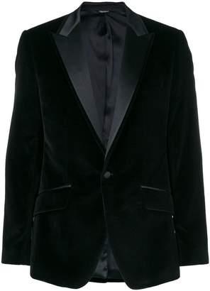 Dolce & Gabbana peaked lapel velour blazer
