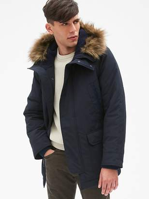 Gap Hooded Parka Jacket with Faux-Fur Trim