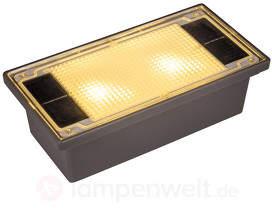 Leuchtender Solar-Pflasterstein mit LED, 19,4 cm