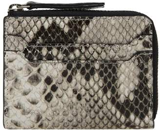 Dries Van Noten Snakeskin Zip Wallet