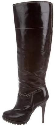 Giuseppe Zanotti Patent Knee-High Boots