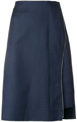 Cédric Charlier high-waist zip detailed skirt