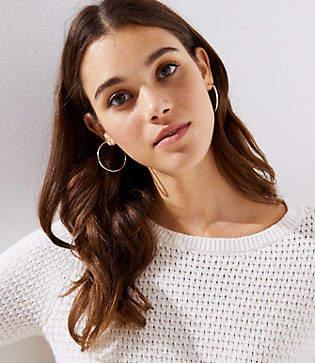 LOFT Hoop Earrings