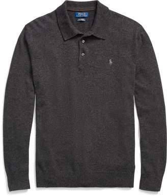 Ralph Lauren Washable Cashmere Polo Sweater